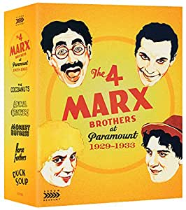 The 4 Marx Brothers At Paramount 1929-1933 [Blu-ray] [UK Import]