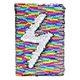 #7: ShopNGift Stylish Sequence Bling personal Notebook Diary Mermaid Sequin Colour changing 1 QTY