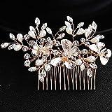Deniferymakeup matrimonio strass farfalla pettine nuziale vintage copricapo di cristallo donne pettine nuziale pettine capelli pezzo matrimonio accessori
