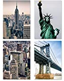 PICSonPAPER Poster 4-Set New York 1