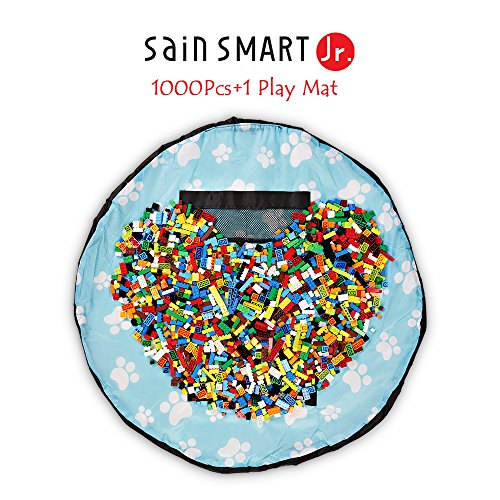 Preisvergleich Produktbild SainSmart Jr. 1000 Pc Building Bricks Set, mit Kinder spielen Fußmatte, Tight Fit mit Major Brand