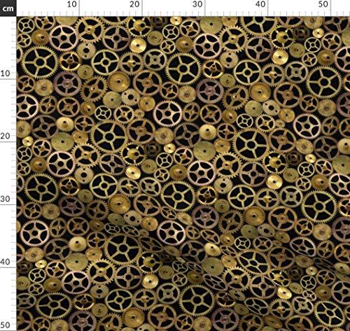 Steampunk, Zahnräder, Messing, Cosplay, Kostüme Stoffe - Individuell Bedruckt von Spoonflower - Design von Joyfulrose Gedruckt auf Baumwollstoff Klassik (Individuelle Kostüm)