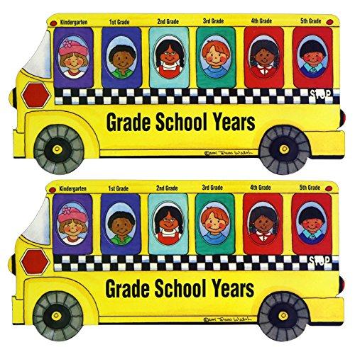giftco 10x 12,7cm Magnet Schule Bus Foto Rahmen, 2Stück -
