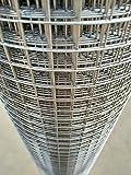 Volierendraht Verzinkt Maschenweite 12x12mm 4-Eck verzinkter Stahl Drahtgitter (50cm x 10m, 1,00mm dick)