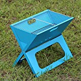 HomJo Outdoor Barbecue Grill Portable Folding Camping Patio Garden charcoal furnace Household BBQ grills Burn oven stove , 7