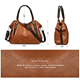 Vbiger Large Handbag Zipper Satchel Tote Bag Shoulder Bag for Women (Brown)