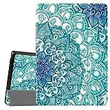 Fintie Hülle Kompatibel für Lenovo Tab E10 - Ultradünne Superleicht Schutzhülle mit Standfunktion für Lenovo Tab E10 10,1 Zoll Tablet 2019, Smaragdblau