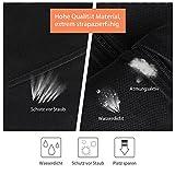 YISSVIC 3PCS Kleidersack Vliesstoff Atmungsaktive Kleiderhülle Kleiderschutz Aufbewahrung 110 × 60cm mit Schuhbeutel 40 × 28cm Schwarz - 5