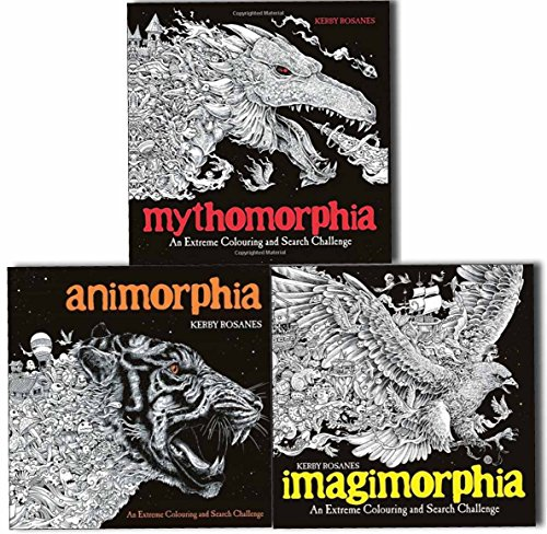 Animorphia, Imagimorphia and Mythomorphia An Extreme Colouring and Search Challenge 3 Books Collection