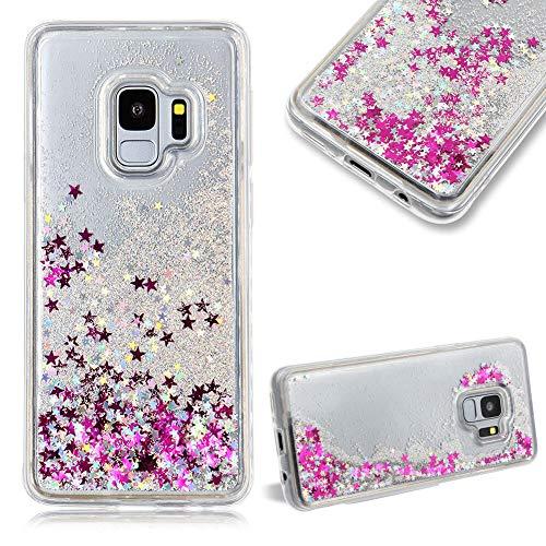 Cestor Glitzer Flüssigkeit Kristall Hülle für Samsung Galaxy S9 Plus,Mode Luxus Dynamisch Sterne...