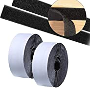 DIY Crafts Hook-Loop Tape 1.5 Inch 25 Feet Adhesive Mounting Tape Strips Nylon Fabric Traps