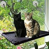Hamaca para Gato o Gato con Ventosa para Ventana, Perca Duradera con versión actualizada de 4 Grandes ventosas para Cama de Gato con Capacidad para hasta 60 Libras