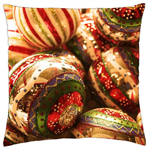 Shiny Christmas Balls - Throw Pillow Cover Case (18