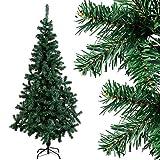 COSTWAY Weihnachtsbaum künstlicher Tannenbaum Christbaum Kunstbaum Dekobaum mit Metallständer 150cm