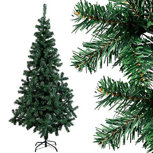 Weihnachtsbäume (COSTWAY Weihnachtsbaum künstlicher Tannenbaum Christbaum Kunstbaum Dekobaum mit Metallständer 150cm/180cm/210cm/240cm grün (150cm))