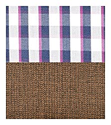 Siyarams Mens Shirt and Trousers Fabrics (Multi-Coloured and Brown )
