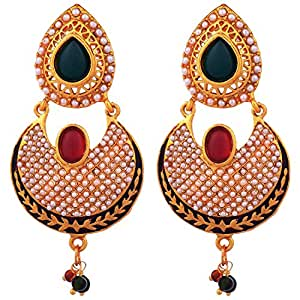Lalso Lifestyle Gold-Plated Jhumki Earings For Women - Multi-Colour