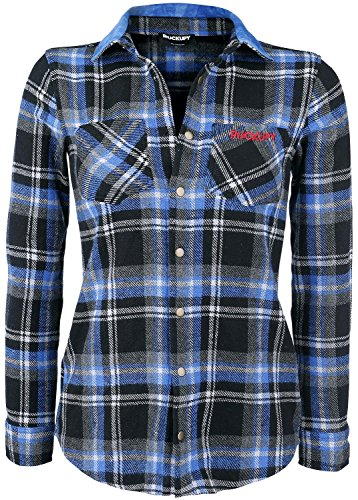 Rockupy Woman Plaid Shirt Camicia donna blu/grigio/nero S
