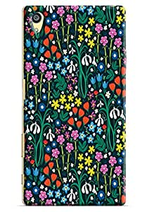 Omnam Small Painted Flower Pattern Printed Designer Back Cover Case For Sony Xperia Z5 Premium