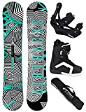 Airtracks Snowboard Set / CUBO Wide + Snowboard Bindung Savage + Snowboard Bag / 159 161 165 168 171 cm 1