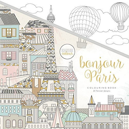 (Kaisercraft Malbuch Bonjour Paris, Paper, Multicolour, 25 x 25 x 0.6 cm)