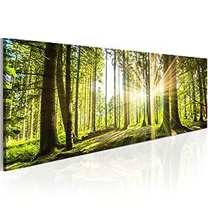 murando bilder wald 135x45 cm leinwandbilder fertig aufgespannt vlies. Black Bedroom Furniture Sets. Home Design Ideas