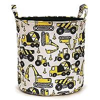 NIBESSER Baby Toy Storage Basket Collapsible Cotton Cartoon Kids Baby Boy Laundry Basket Laundry Hamper Nursery Storage Bin Gift Baskets Foldable Organizer for Bedroom Nursery Room