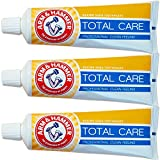 3X Arm & Hammer Total Care Toothpaste with Baking Soda & Flouride for Cavity Protection, Whitening, Removing Plaque & Tartar and Freshens Breath