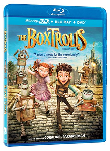 The Boxtrolls [Blu-Ray 3D + Blu-Ray + DVD]