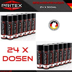 Bremsenreiniger 24 x 500ml Teilereiniger (EUR 2,80/L inkl. MwSt.) Bremsen Reiniger Spray PRITEX Qualität