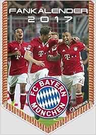 FCB Bayern München 2017 – Bannerkalender A4, Fussball Kalender, Fankalender – 21 x 29,7 cm