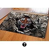 TUOKING Stilvolle 3D Tier Druck Fußmatte Rutschfeste Gummi Indoor / Outdoor Bodenmatte Filz Material Boden Teppich für Ihr Badezimmer / Wohnzimmer / Veranda / Küche (Tiger)