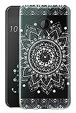 Sunrive Für HTC U11 Life Hülle Silikon, Transparent Handyhülle Schutzhülle Etui Case Backcover für HTC U11 Life 5,2 Zoll(TPU Blume Weiße)+Gratis Universal Eingabestift