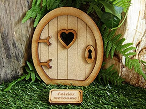 Round Three Dimensional Fairy Door Craft Kit with 'Fairies Welcome' Mat & Accessories