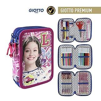 Soy Luna- Plumier Relleno con Giotto Premium (Artesanía Cerdá 2700000193)