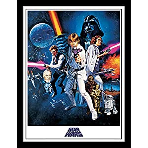 "Star Wars FP11220P-PL 30 x 40 cm ""A New Hope One Sheet"" Framed Print"