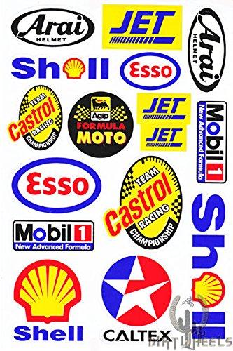 Preisvergleich Produktbild Motocross Auto Logo Aufkleber Satz Bogen Sticker
