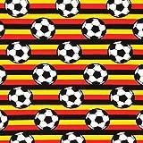 Fabulous Fabrics Single Jersey Fußball Deutschland — Meterware ab 0,5m — zum Nähen von Tops und Shirts, Kleidern und Kinderbekleidung