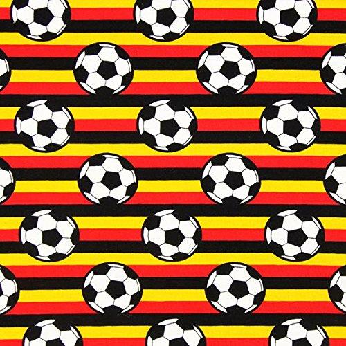 Fabulous Fabrics Single Jersey Fußball Deutschland - Meterware ab 0,5m - zum Nähen von Tops, Kleider und Kinderbekleidung