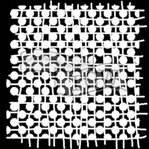 The Crafters Workshop 6x 6Schablone verbunden Dots, Kunststoff, 18x 16x 0,1cm