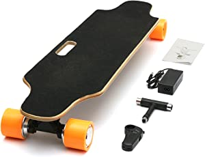Generic Double Drive 500W 24V Electric Skate Board for Young People (1203078)- Pack of 1