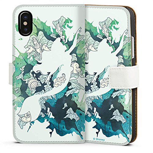 Apple iPhone 6s Plus Silikon Hülle Case Schutzhülle Arielle Meerjungfrau Disney Sideflip Tasche weiß