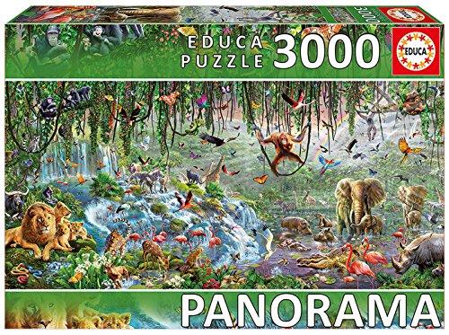 Educa Borrás - 17133.0 - Puzzle -  Vie Sauvage Panorama - 3000  Pièces thumbnail