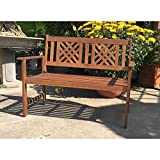 Gravidus gemütliche Gartenbank aus Eukalyptus und Akazie, 2-Sitzer