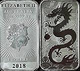 1 Unze Drache Rectangular 2018 Silber 1 oz Silberbarren
