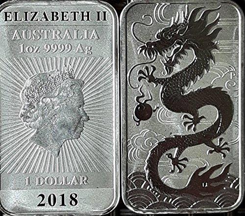 1 Unze Drache Rectangular 2018 Silber 1 oz Silberbarren Silber Münzen 1 Oz
