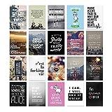20er Postkarten Set ENGLISCH mit Sprüchen von VISUAL STATEMENTS® / Hochwertige Spruchkarten / 350g Bilderdruckkarton / 12 x 17,5 cm (XXL) / 20 verschiedene Motive / 20er Set ENGLISCH