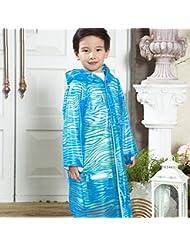 Enfants Raincoat Garçons et filles Raincoats Poncho simple avec sacs Pouce (4-12 ans)