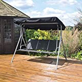 Kingfisher FS3HB Swinging Deluxe Hammock Bench Seat with Canopy - 3 Seater