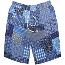 KOSBON Summer Trunks para natación de Hombre Pantalones Cortos de Playa de Secado rápido Estilo Retro